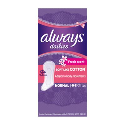 Productafbeelding Always Inlegkruisjes Fresh Scent Cotton Normal