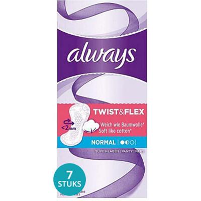 Productafbeelding Always Inlegkruisjes Twist & Flex Normal