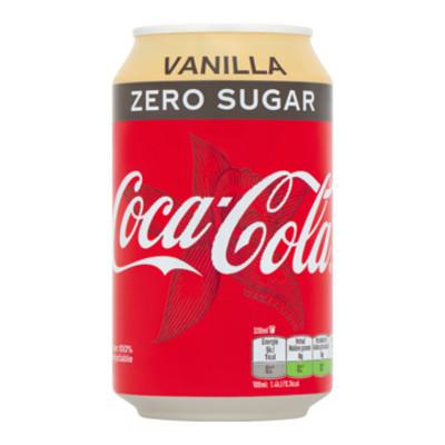Productafbeelding Coca-Cola Zero Vanilla Blik