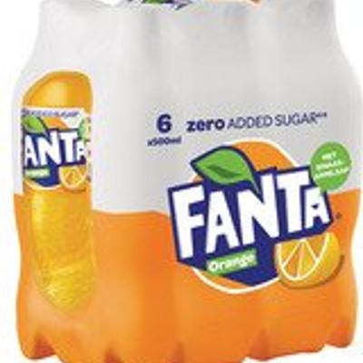 Productafbeelding Fanta Zero Orange Fles klein